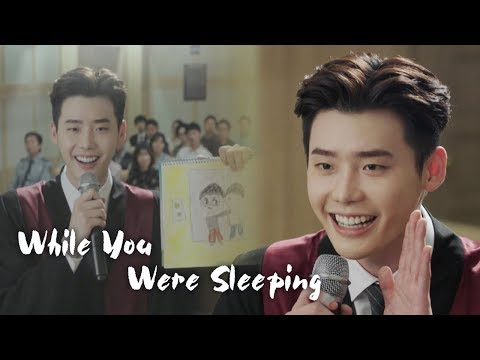 "Lee Jong Suk ""I'm a friend of Santa Claus!"" [While You Were Sleeping Ep 12]"