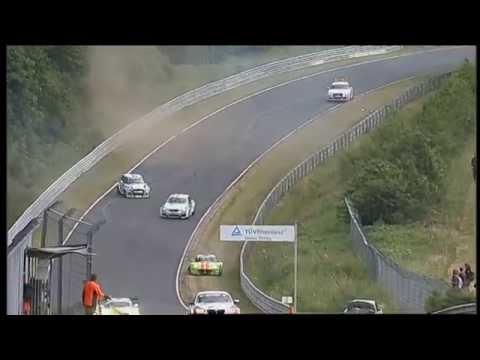 Crash under Yellow flag zone, Nurburgring 24h 2014