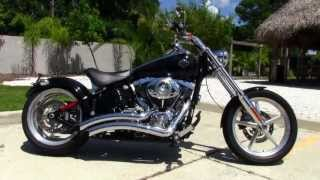 2. Used 2009 Harley Davidson FXCWC Softail Rocker C Motorcycle for sale
