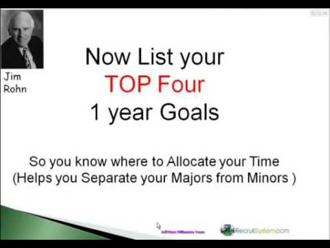 2012 Goal Setting Workshop   by Jim Rohn, hosted by Jeff Fiore, Millionaire Team