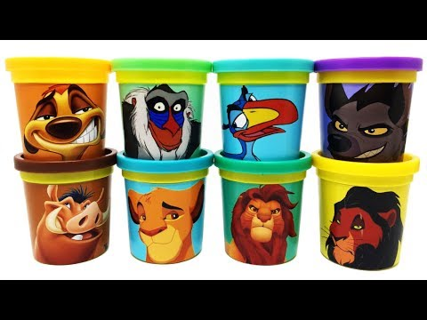 The Lion King Characters Play-Doh Can Heads & Toys Timon Pumbaa Zazu Shenzi Rafiki Simba Mufasa Scar