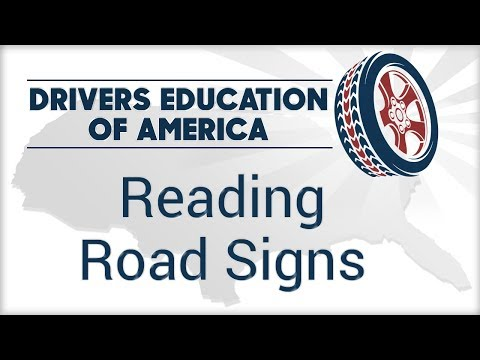Road Signs - Online Adult Drivers Ed For Texas Driver's License