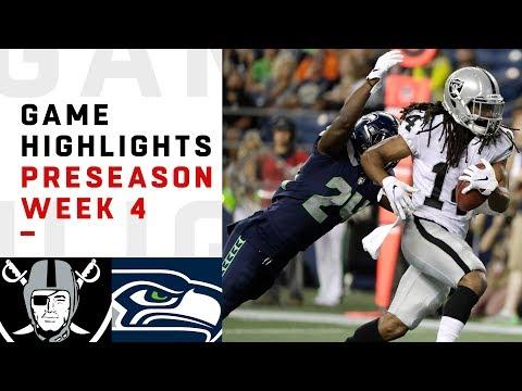 Raiders vs. Seahawks Highlights | NFL 2018 Preseason Week 4