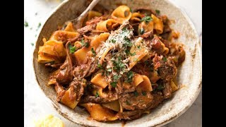 Melt-in-your-mouth shredded beef in a rich tomato sauce. Classic Italian,  it's worth the patience! http://www.recipetineats.com/slow-cooked-shredded-beef-ragu-pasta/