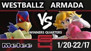 Video Genesis 4 SSBM - G2 Westballz (Falco/Fox) Vs. [A] Armada (Peach) Smash Melee Winners Quarters MP3, 3GP, MP4, WEBM, AVI, FLV Oktober 2017