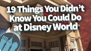 Video 19 Things You Didn't Know You Could Do in Disney World MP3, 3GP, MP4, WEBM, AVI, FLV November 2018