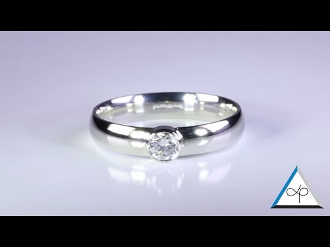 Diamond Rings Set in Platinum for Men - Flat band and Ladies Court Band | Prakash Gems