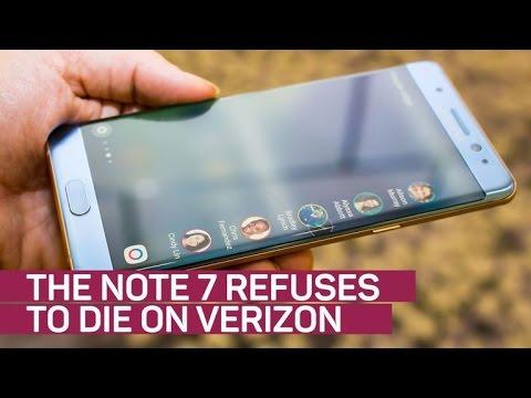 Samsung's Note 7 refuses to die on Verizon (видео)