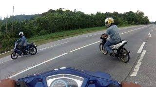 10. Drag race Yamaha Jupiter MX vs Suzuki Raider FU150