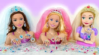 Video Giant Rapunzel Barbie Styling Head doll Wedding Makeover Earring Kepala boneka Barbie boneca Cabeça MP3, 3GP, MP4, WEBM, AVI, FLV Desember 2018