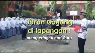HEBOH ! Guru dan Siswa nyanyi jaran Goyang memperingati hari Guru