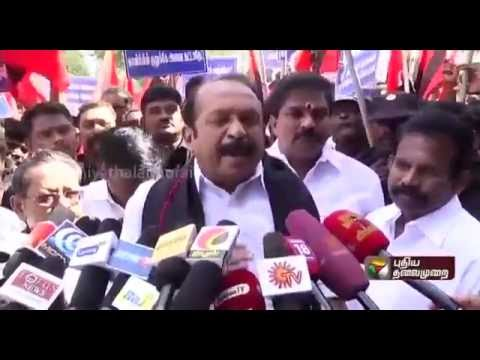 MDMK-leader-Vaiko-addressing-reporters-while-trying-to-stage-a-rail-roko-in-Trichy