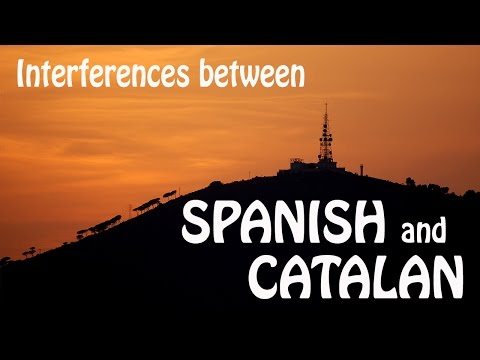 catalan - In this video I speak in Catalan. I talk a little bit about the common linguistic interferences that we have between Spanish and Catalan and viceversa becaus...