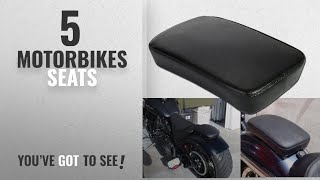 9. Top 10 Motorbikes Seats [2018]: OSAN Leather Pillion Pad Suction Cup Rear Seat For Harley Custom