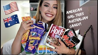 AMERICAN GIRL TRIES AUSTRALIAN CANDY! // FIRST TASTE TEST REACTION