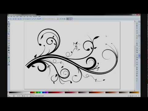 inkscape - Some tips and tricks for creating a flourish in Inkscape.