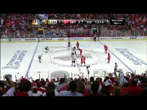 Pavel Datsyuk knuckleball wrister goal 3-1 May 20 2013 Chicago Blackhawks vs Detroit Red Wings NHL_Best videos: Ice hockey
