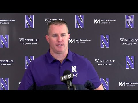 Football - Pat Fitzgerald Purdue Postgame Press Conference (11/9/19)