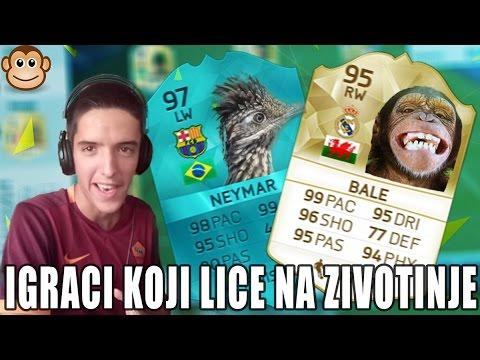 IGRACI KOJI LICE NA ZIVOTINJE   FIFA 16