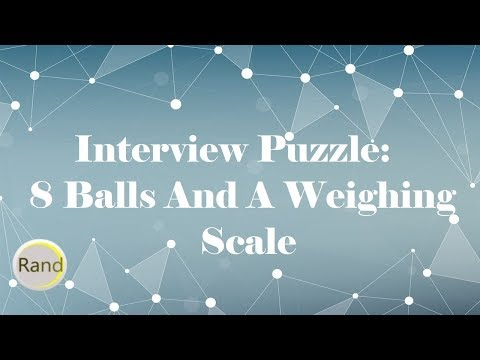 Interview Puzzle: 8 balls and a weighing scale