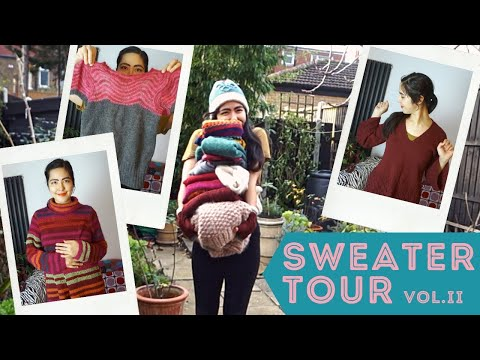 SWEATER TOUR II: JUMPERS! knitting dramatic & colorful vintage wool sweaters for a handmade wardrobe