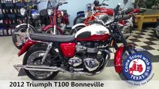 7. 2012 Triumph T100 Bonneville classic motorcycle