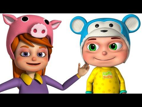 Funny Little Babies Wearing Funny Cap | Five Little Babies | Zool Babies Fun Songs