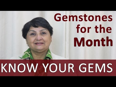 Gemstones - Birth Gems And Stones For The Month