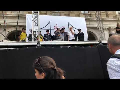 Commemorazione per la tragedia del ponte Morandi