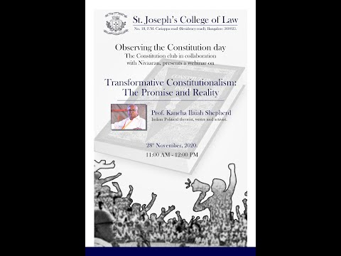 Transformative Constitutionalism : The Promise and Reality (Live event)