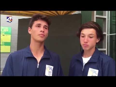 Buena actuación de Uruguay en el Mundial de Tenis Sub 14 con los sanduceros Llanes y Fumeaux