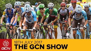 This week we discuss those costly mistakes that have happened at this year's Tour de France as well as all the regular amazing things you expect from GCNSubscribe to GCN: http://gcn.eu/SubscribeToGCNGet exclusive GCN gear in the GCN shop! http://gcn.eu/i5Who do you think made the biggest mistake at the 2017 Tour de France so far? Let us know in the comments below 👇It's right to celebrate the big winners at the Tour, the glorious stage victors, the brave long range breakaways and the wearer of the yellow jersey. But, this week, we're going to give some time to the people that we have more in common with: the losers. What are the biggest mistakes at this years race?  Not forgetting those unwritten rules…We also announce the winners of tyres from Continental, workstands from Park Tool and DT Swiss Wheels! We've got the latest in cycling from around the globe with 100k miles been ridden by Amanda Coker, Tim Wellens retiring from the Tour de France due to not wanting to use a TUE to treat an ilness. We also hear from Mark Beaumont as he attempts to cycle around the world in 80days!We've got tech of the week with a spotting of a new Giro helmet, a new Bontrager helmet, a new Cannondale and finally a new Focus ebike.In racing news we discuss the Lotto Thuringen women's tour and of course the Wattage Bazooka. We've all the usual's such as hack/bodge of the week, comment of the week, extreme cornerClick here to enter the Canyon competition: http://gcn.eu/WinCanyonIf you'd like to contribute captions and video info in your language, here's the link 👍 http://gcn.eu/i6Watch more on GCN...6 Key Discussion Points, Rest Day Wrap Up  Tour de France 2017  📹  http://gcn.eu/i7Mountain Bike Vs Gravel Bike – Which Is Faster? GMBN Vs GCN  📹  http://gcn.eu/MTBvsGravelMusic:Viper Creek Club -  Because I Know (Instrumental)Arthur Pochon, Charles Chemery - Disco de ParisMikey Bruce, James Green - Fire It UpIsrael Medina - WavesJosh Kirsch/Media Right Productions - Morning StrollMarc Adamo, Tica Zamora - Crushing CustomsPhotos: © Bettiniphoto / http://www.bettiniphoto.net/ & ©Tim De Waele / http://www.tdwsport.comAbout GCN:The Global Cycling Network puts you in the centre of the action: from the iconic climbs of Alpe D'Huez and Mont Ventoux to the cobbles of Flanders, everywhere there is road or pavé, world-class racing and pro riders, we will be there bringing you action, analysis and unparalleled access every week, every month, and every year. We show you how to be a better cyclist with our bike maintenance videos, tips for improving your cycling, cycling top tens, and not forgetting the weekly GCN Show. Join us on YouTube's biggest and best cycling channel to get closer to the action and improve your riding!Welcome to the Global Cycling Network  Inside cyclingThanks to our sponsors:Alta Badia:http://gcn.eu/AltaBadia- // Maratona Dles Dolomites: http://gcn.eu/MaratonaDlesDolomites-Assos of Switzerland: http://gcn.eu/AssosKASK helmets: http://gcn.eu/KASKfi'zi:k shoes and saddles: http://gcn.eu/fizikshoes and http://gcn.eu/fiziksaddlesTopeak tools: http://gcn.eu/TopeakCanyon bikes: http://gcn.eu/-CanyonQuarq: http://gcn.eu/QuarqDT Swiss: http://gcn.eu/DtSwissScience in Sport: http://gcn.eu/SiSOrbea bikes: http://gcn.eu/OrbeaTrek Bicycles: http://gcn.eu/-TrekVision wheels: http://gcn.eu/VisionZipp wheels: http://gcn.eu/Zipppower2max: http://gcn.eu/power2maxWahoo Fitness: http://gcn.eu/Wahoo-Fitness Park Tool: http://gcn.eu/-parktoolContinental tyres: http://gcn.eu/continental-Camelbak: http://gcn.eu/camelbak-YouTube Channel - http://gcn.eu/gcnYTFacebook - http://gcn.eu/gcnFbGoogle+ - http://gcn.eu/gcnGPlusTwitter - http://gcn.eu/gcnTWLeave us a comment below!