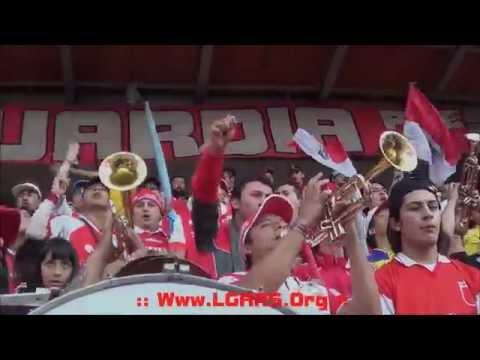// Esta es la guardia si señores...//Yo soy de la banda..//Del rojo soy...y más! // - Clásico 279 - La Guardia Albi Roja Sur - Independiente Santa Fe