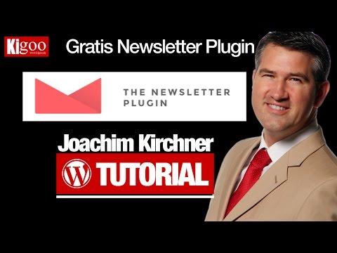 Wordpress Tutorial - Folge 2 - Kostenloses Newsletter Plugin