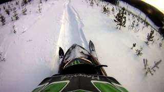 4. 2010 polaris dragon 800 in deep powder!