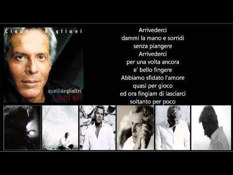 Tekst piosenki Claudio Baglioni - Arrivederci po polsku