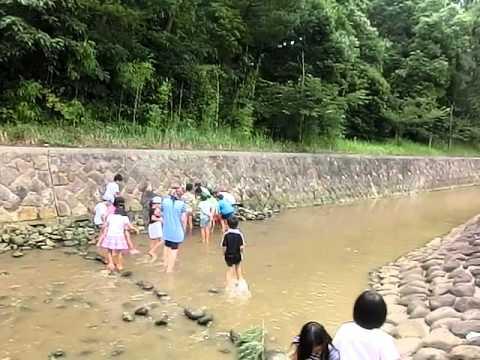 加津佐の岩戸で川遊び:○○○見つけた!若木保育園学童保育わかキッズ