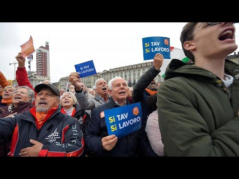 Toρίνο-Λυών: Διαδήλωση υπέρ της σιδηροδρομικής γραμμής