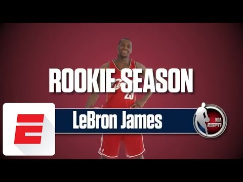 LeBron James' rookie season: His interviews, the SportsCenter highlights, and more | ESPN (видео)