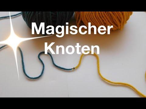 Magischer Knoten | Zwei Knäuel miteinander verbinden