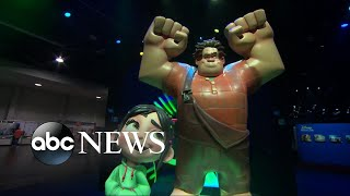Disney celebrates new movies and princesses at the D23 expo in California.