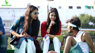 Staring Prank Part #2 On Cute Girls (Gone Wrong)   Pranks In India  Ashish Giri,Raju Bharti