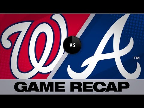 Scherzer, Gomes lead Nationals to 9-4 win | Nationals-Braves Game Highlights 9/8/19