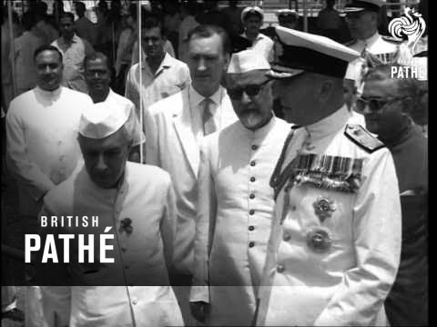 Mountbatten Attends Defence Talks In India (1963) (видео)