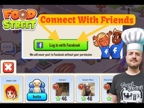 Food Street - Connecting Facebook To Your Game