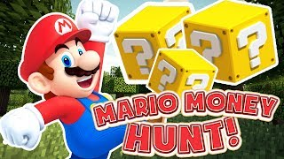 MEGA OP WEAPONS MARIO MONEY HUNT - MINECRAFT LUCKY BLOCK