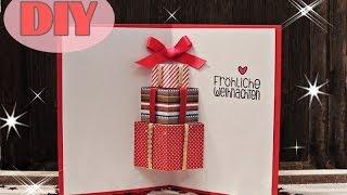 Download Lagu Weihnachtskarten selber basteln #7 - Weihnachtsgeschenke - Christmas Card DIY Mp3