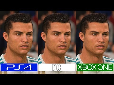 Fifa 18 | PS4 VS ONE VS PC | Graphics Comparison | Comparativa