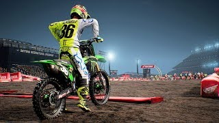 Monster Energy Supercross - Kawasaki KX 250 F - Test Ride Gameplay (PC HD) [1080p60FPS]