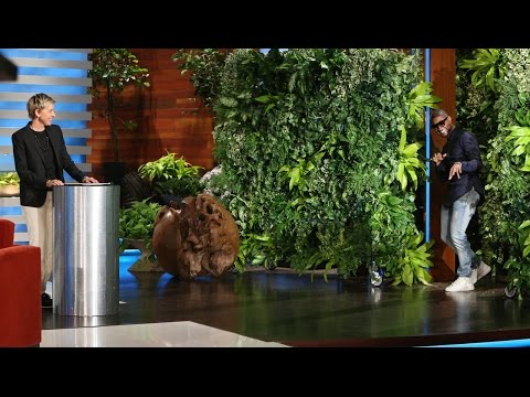 Who - It was time for a new segment! You won't believe who was in Ellen's bushes. It's Usher!